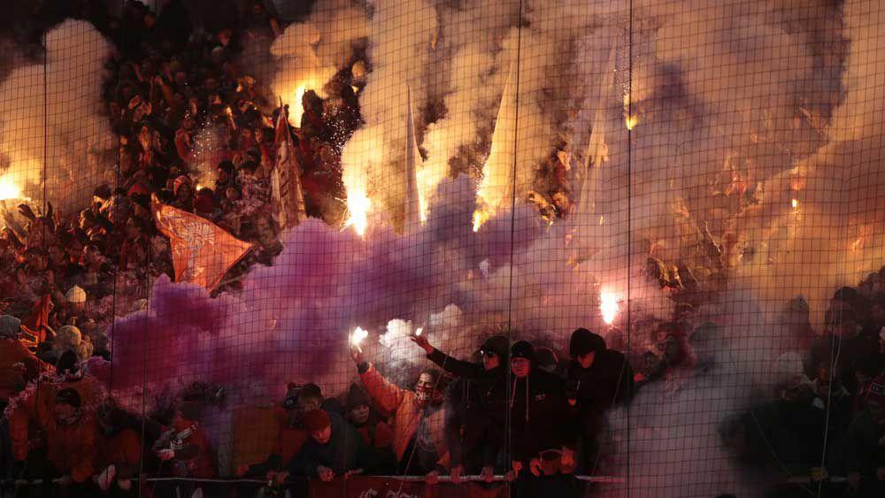 Football: Russian fans set fire to rivals' stadium