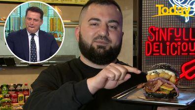 Melbourne burger joint creates 'limited' Karl Stefanovic burger