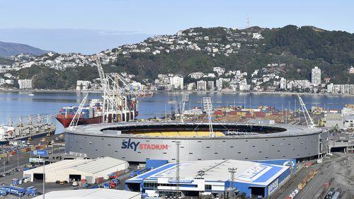 Wellington's Sky Stadium in Wellington New Zealand