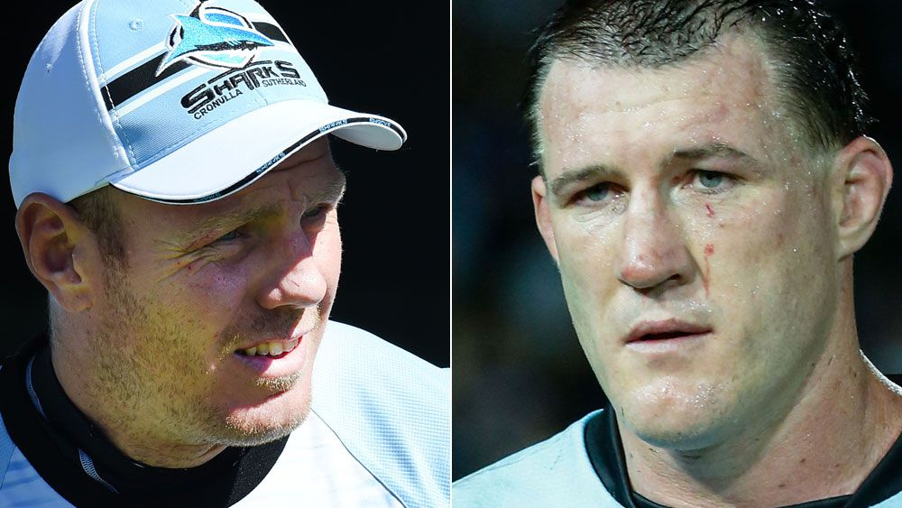 Luke Lewis and Paul Gallen. (AAP)