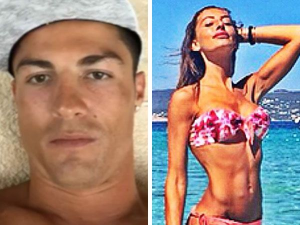 Cristiano Ronaldo and Alessia Tedeschi. (AAP and Instagram)
