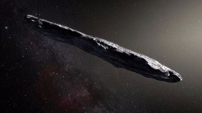 Search for alien technology on interstellar asteroid