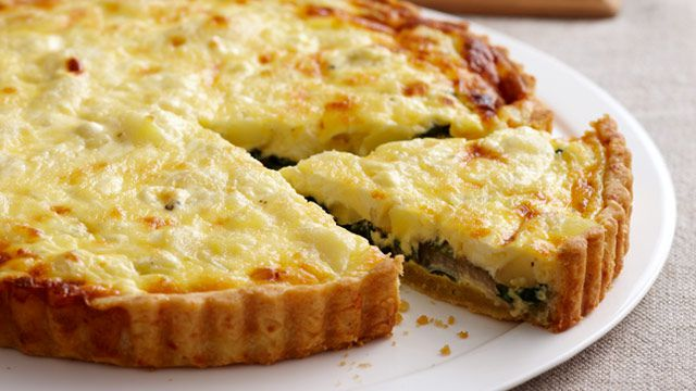 Potato and silverbeet pie for $9