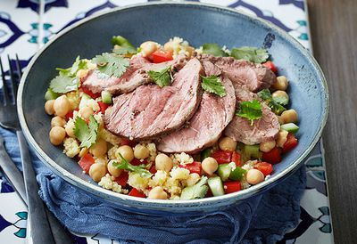 Sumac lamb with couscous salad
