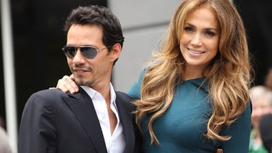 Marc Anthony and JLo when they were husband and wife. Image: Getty.