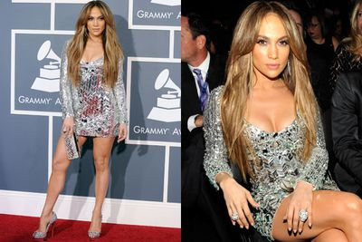 There's midi, there's mini and then there's 'why have you even bothered wearing actual clothing?'<br/><br/>We're going to let you decide which category JLo's mirror-ball frock falls into...