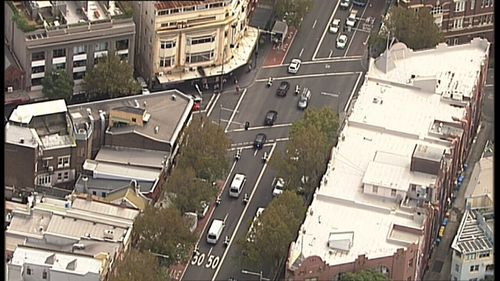 Security has been ramped up around the city to deal with Mr Obama's arrival. Picture: 9NEWS.