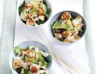 Thai turkey meatballs with spicy noodles