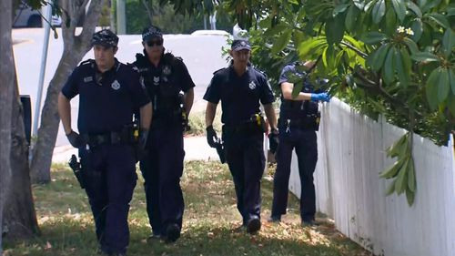 Police have been scouring the streets for evidence and uncovered several items of clothing.