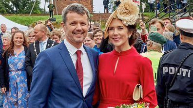 Princess Mary Prince Frederik Danish flag celebrations