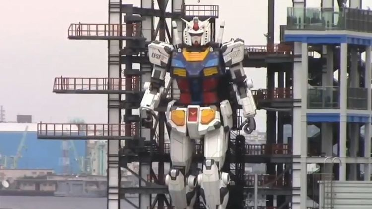 Meet RX-78, the 60-feet-tall Gundam robot replica from Japan