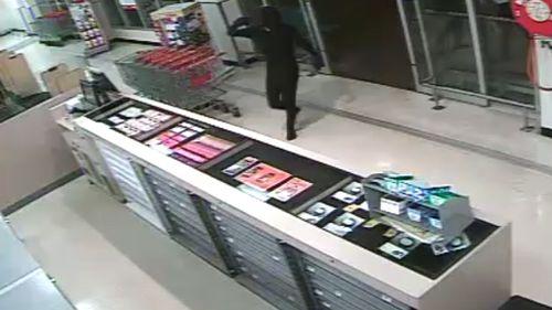 The man was wearing a black lycra bodysuit. (Supplied)