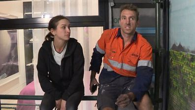 Jesse reveals the toll laying the 105,212 tile feature wall took on Mel