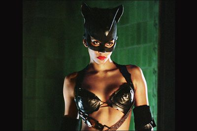 """<b>Movie: </b><i>Catwoman</i><br/>Just a few films after her Oscar-winning performance in <i>Monster's Ball </i>came this dog of a movie that Berry's still not able to live down. She's one of the few actors to actually accept her Razzie award for Worst Actress in person, and she gave a hell of a speech, in which she told Warner Bros, """"Thank you for putting me in a piece of s---, god-awful movie... it was just what my career needed""""."""