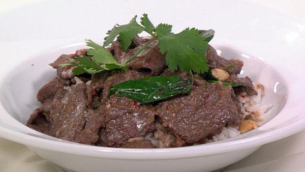 Beef penaeng curry