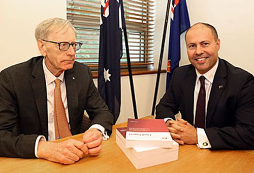 Kenneth Hayne and Josh Frydenberg (AAP)