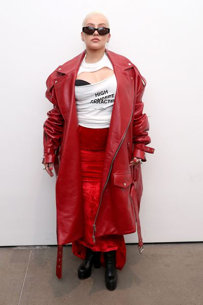 Christina Aguilera at the Christian Cowan Show during New York Fashion Week, September 8, 2018 i