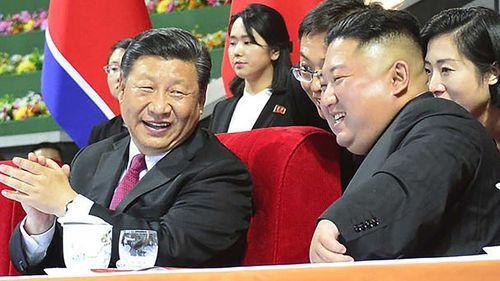 Chinese President Xi Jinping and North Korean leader Kim Jong-un.