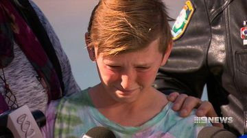 Emotional thank you from young boy to his rescuers who saved him from a rip
