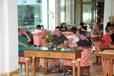 The Rifai boys struggled to see the purpose of high tea.
