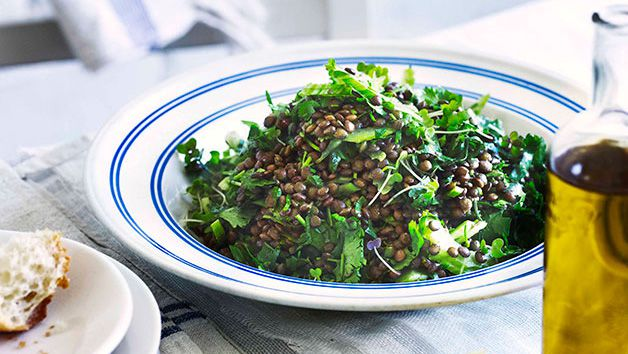 Lentil and coriander salad
