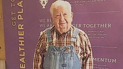 Mr Lloyd Black 91-year-old Member of the Month at Anytime Fitness in US