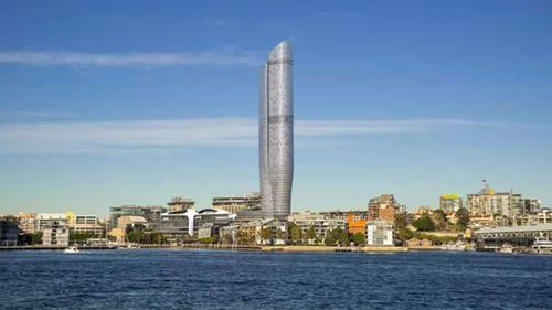 An artist's impression of The Star's proposed tower.