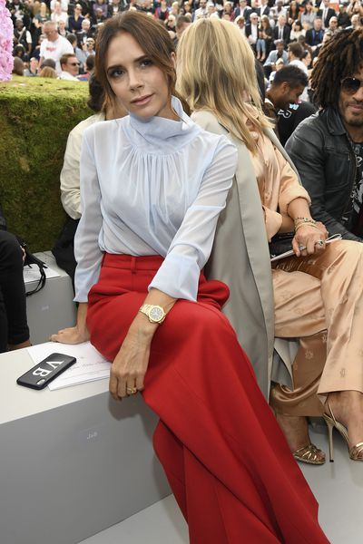 "<a href=""http://https://style.nine.com.au/2018/02/15/09/05/victoria-beckham-style-evolution"" target=""_blank"" title=""Victoria Beckham's evolution from Spice Girl to style icon"" draggable=""false"">Victoria Beckham's evolution from Spice Girl to style icon</a> is arguably fashion's greatest Cinderella story.  <br /> <br /> Despite cutting ties with denim hotpants and floor-length hair extensions, the designer still has room in her walk-in-wardrobe for one excessive extravagance– engagement rings.<br /> <br /> The former pop star has been spotted wearing 14 different types of eye candy on her finger during her 19 years of marriage to husband, David, with the latest making its debut at Paris Fashion Week over the weekend.<br /> <br /> Clad in a red and white pantsuit of her own design, at Dior Homme's menswear S/'S'19 show, the designer showed off her latest ring- a square-cut yellow diamond set on a platinum pave band- worth an estimated $21, 4195, according to the <em><a href=""http://http://www.dailymail.co.uk/tvshowbiz/article-5905001/Victoria-Posh-Beckham-shows-4-engagement-rings-David-Beckham.html"" target=""_blank"" title=""Daily Mail."" draggable=""false"">Daily Mail.</a></em><br /> <br /> The sudden appearance of a new rock on VB's manicured finger comes at a time when the high-profile pair, who tied the knot in July 1999, have been fighting off <a href=""https://style.nine.com.au/2018/06/12/13/49/david-and-victoria-beckham-kent-and-curwen"" target=""_blank"" title=""recent divorce rumours."" draggable=""false"">recent divorce rumours.</a><br /> <br /> ""There is no statement due, no divorce, and a lot of Chinese whispers and fake social media news. This is all very bizarre and an embarrassing waste of time,"" a representative of the pair told <em>The Sun </em>in June.<br /> <br /> The Beckhams announced their engagement in January 1998, with VB donning a three-carat marquise-cut diamond set on a plain yellow-gold band.<br /> <br /> Click through to see the entire engagement ring collection of Victoria Beckham."