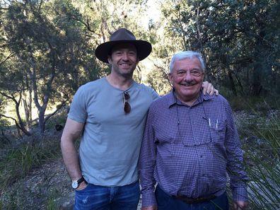 Hugh Jackman and his father, Christopher John Jackman.