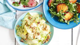 Summer squash and zucchini ribbon salad