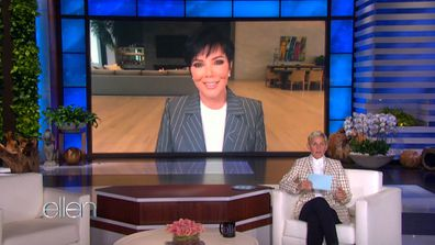 Kris Jenner plays a game with Ellen