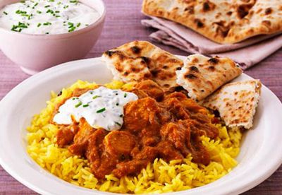 Indian chicken with basmati rice