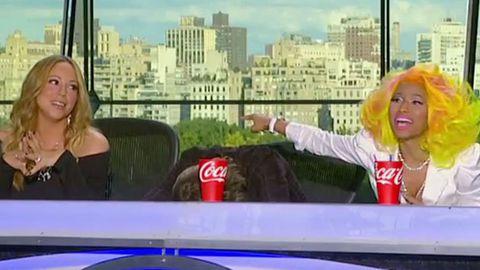 Watch: <i>American Idol</i> premiere best moments - Nicki Minaj calls Mariah a 'b----', Keith Urban spills drink on Nicki