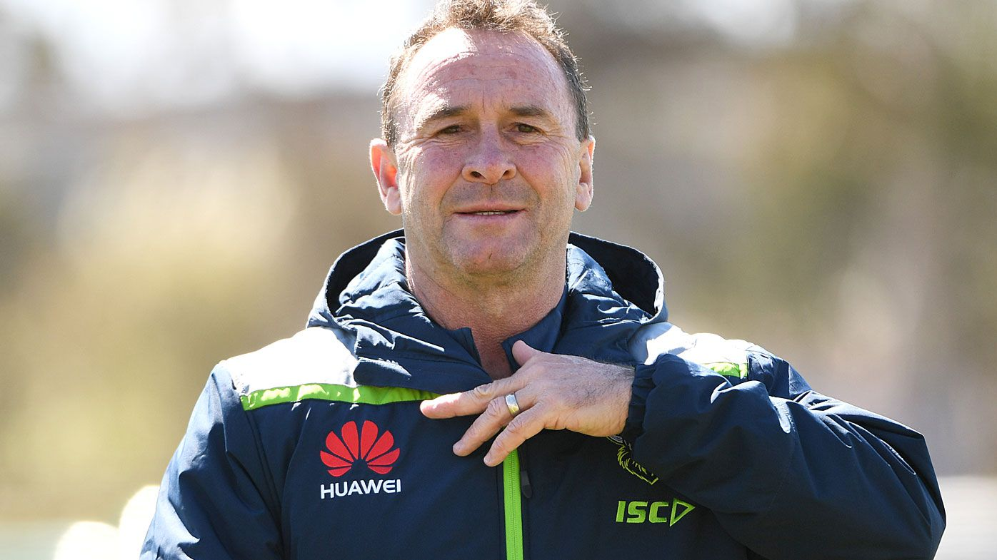 Coach Ricky Stuart of the Canberra Raiders
