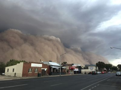 Terrifying dust storm sweeps through NSW