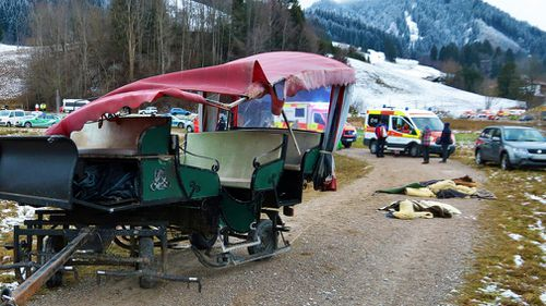 Twenty hurt after German horse carriages collide on Christmas Day