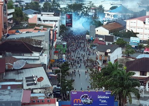Four Australian's could face travel bans after participating in West Papuan pro-independence demonstrations.