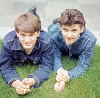 The Everly Brothers, consisting of Phil (left, 1939-2014) and Don (right) in London, England, 1965.