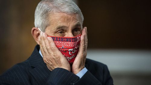 Dr Anthony Fauci has urged the public to wear masks, a plea ignored by Donald Trump.