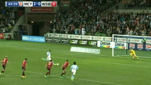 Cahill scores as Melbourne City demolish Wanderers