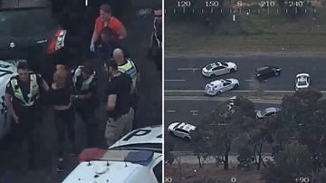 Police corner car thief in dramatic highway chase