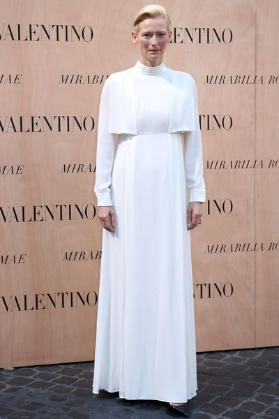 <p>Valentino's Fall 2015 Haute Couture show in Milan drew an influential front row, including Tilda Swinton, Gwyneth Paltrow, Tilda Swinton, Olivia Palermo and Tilda Swinton. Oh, and Tilda Swinton was there, a vision in a white Valentino gown she will probably wear again to buy milk. Click through to see the stylish guests in attendance...</p>