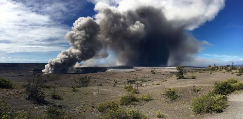 Near-constant plumes of ash are spilling out of the Halema'uma'u Crater have risen as high as 3.6km into the air. (US Geological Survey)