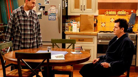Two and a Half Men crew reckons Charlie Sheen has been crazy for years
