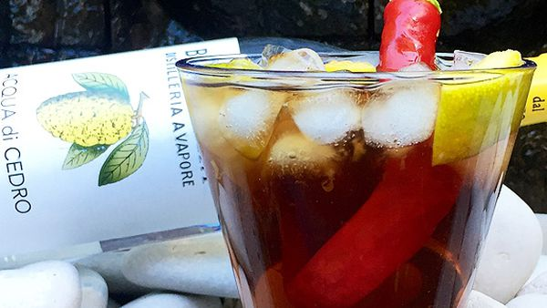 Aphrodisiac lime and chilli cocktail