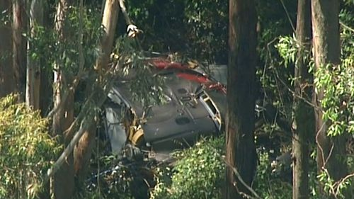 Emergency services have found the wrecked chopper. (9NEWS)