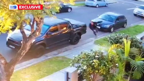 9News has seen CCTV of a shooting in Sydney yesterday.