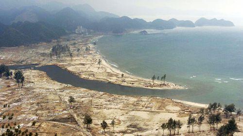 The devastated coastline. (Getty)