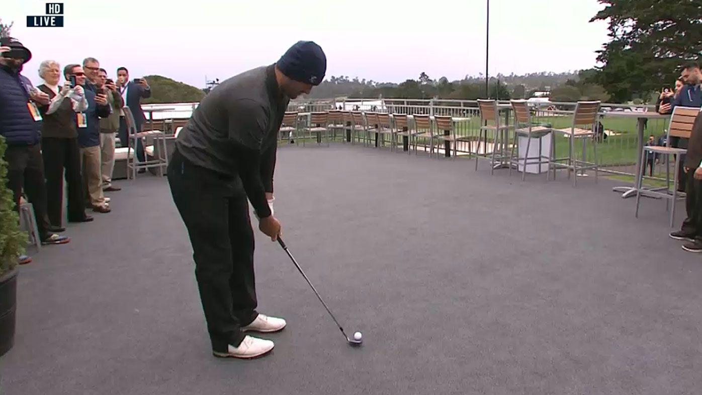 Tony Romo hits crazy shot at Pebble Beach