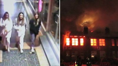 Possible suspects wanted over $10m school blaze released